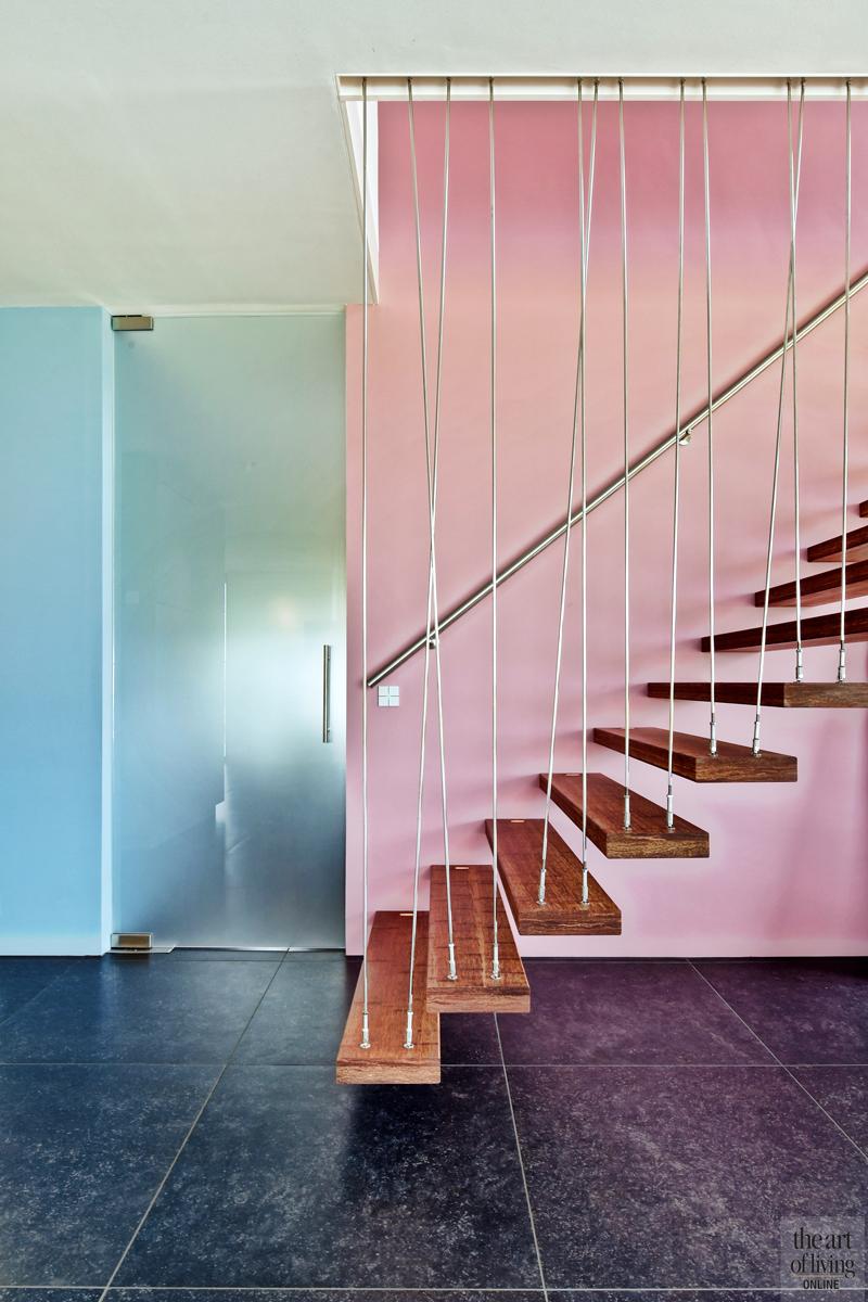 Natuurlijke omgeving, 123DV Architecten, Hal, Gang, Trap, Trapdesign, Moderne trap