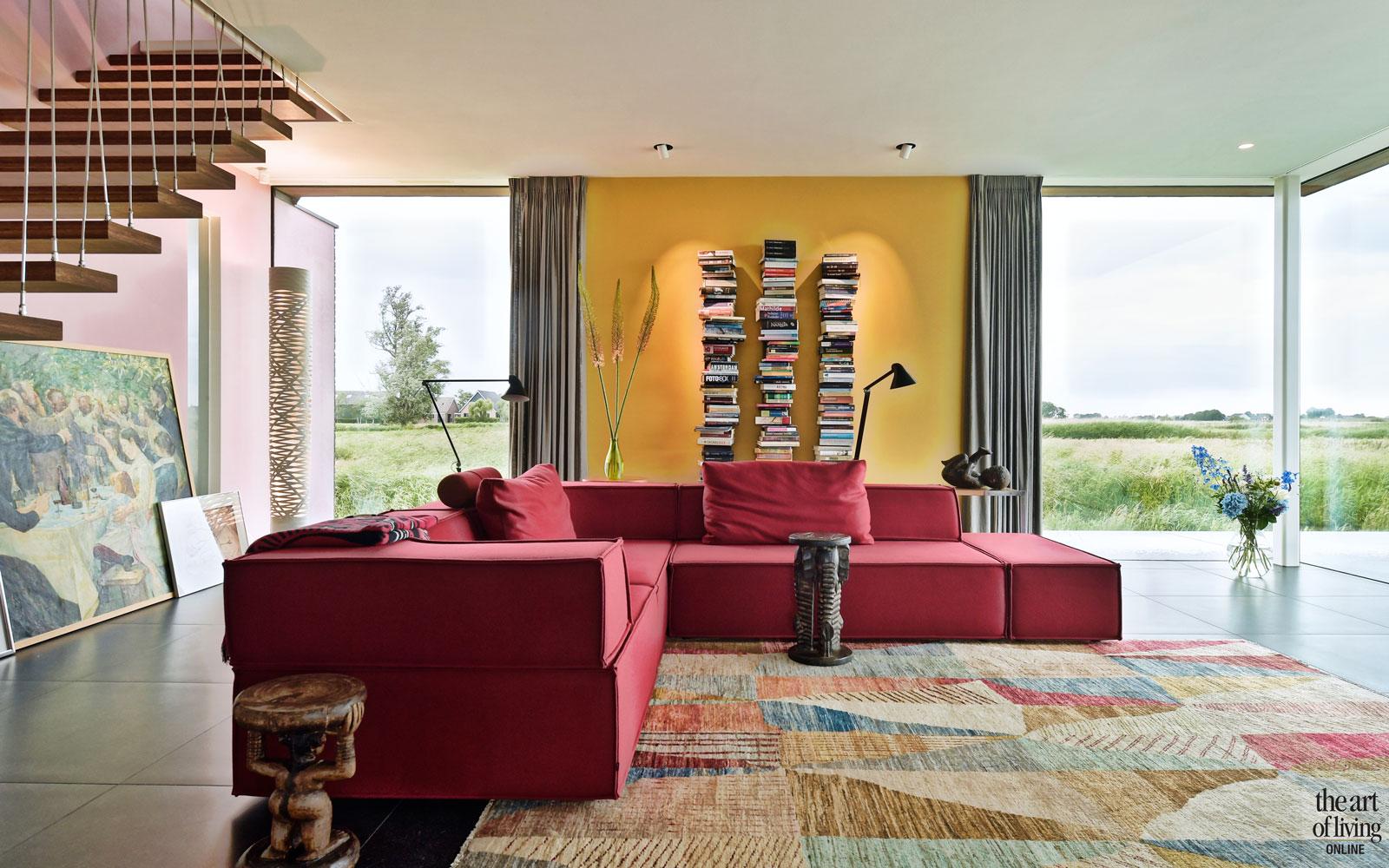 Natuurlijke omgeving, 123DV Architecten, Interieur, Woonkamer, Kleurrijk interieur, Design meubels