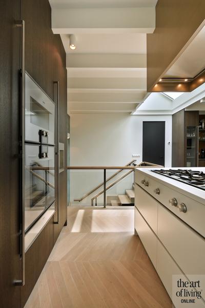 Penthouse, By Thimble, Keuken, Open keuken, wijnkoelkast, high end keuken, Keukenapparatuur, Maatwerk keuken, Kookeiland