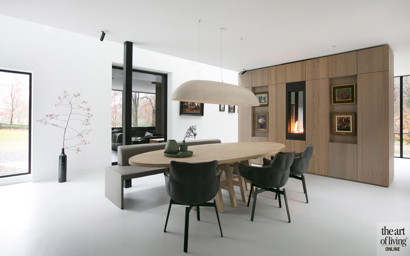 Strak interieur, Studio Kap, Berk, Moderne villa, Natuurlijke omgeving, Stalen deuren