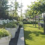 Stijlvolle villa tuin, Buytengewoon Tuinontwerp, tuindesign, aan het water, uitzicht