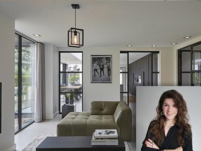Mirthe Janus, interieurontwerpster, rust, strak lijnenspel, modern-chic