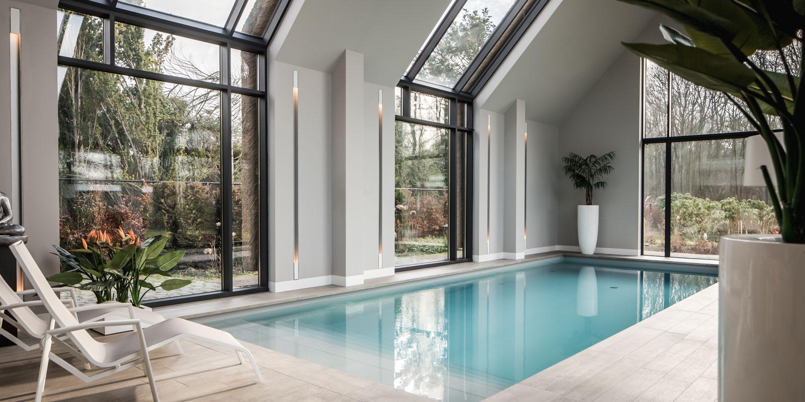 binnenzwembad, VSB Wellness, thuis zwembad, luxe, Drijvers, villa