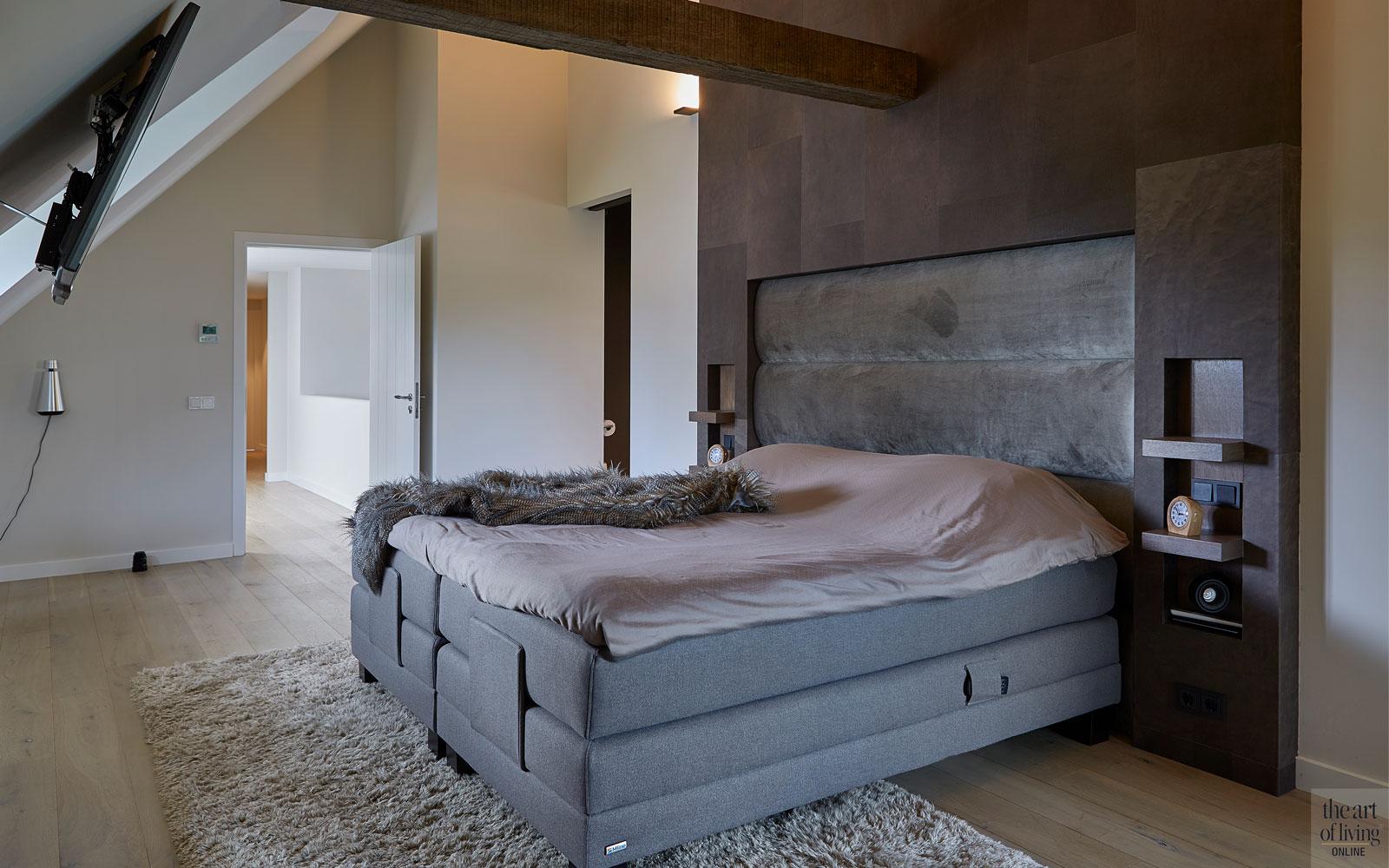 Boerderij, Marco Daverveld, Interieurdesign, Landelijk interieur, Landelijk wonen, Design meubels, Warm interieur, Slaapkamer, Masterbedroom