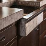 Donkere keuken, Dauby, deurbeslag, exclusief, kookeiland, hoogwaardig materiaal