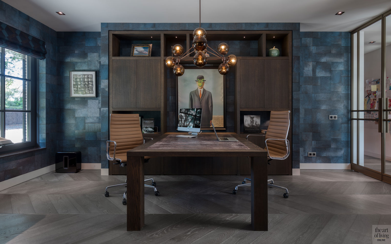 High end interieur, Herman Peters, Kantoor, Home office, maatwerk interieur, Verlichting, Design verlichting, verlichting armatuur