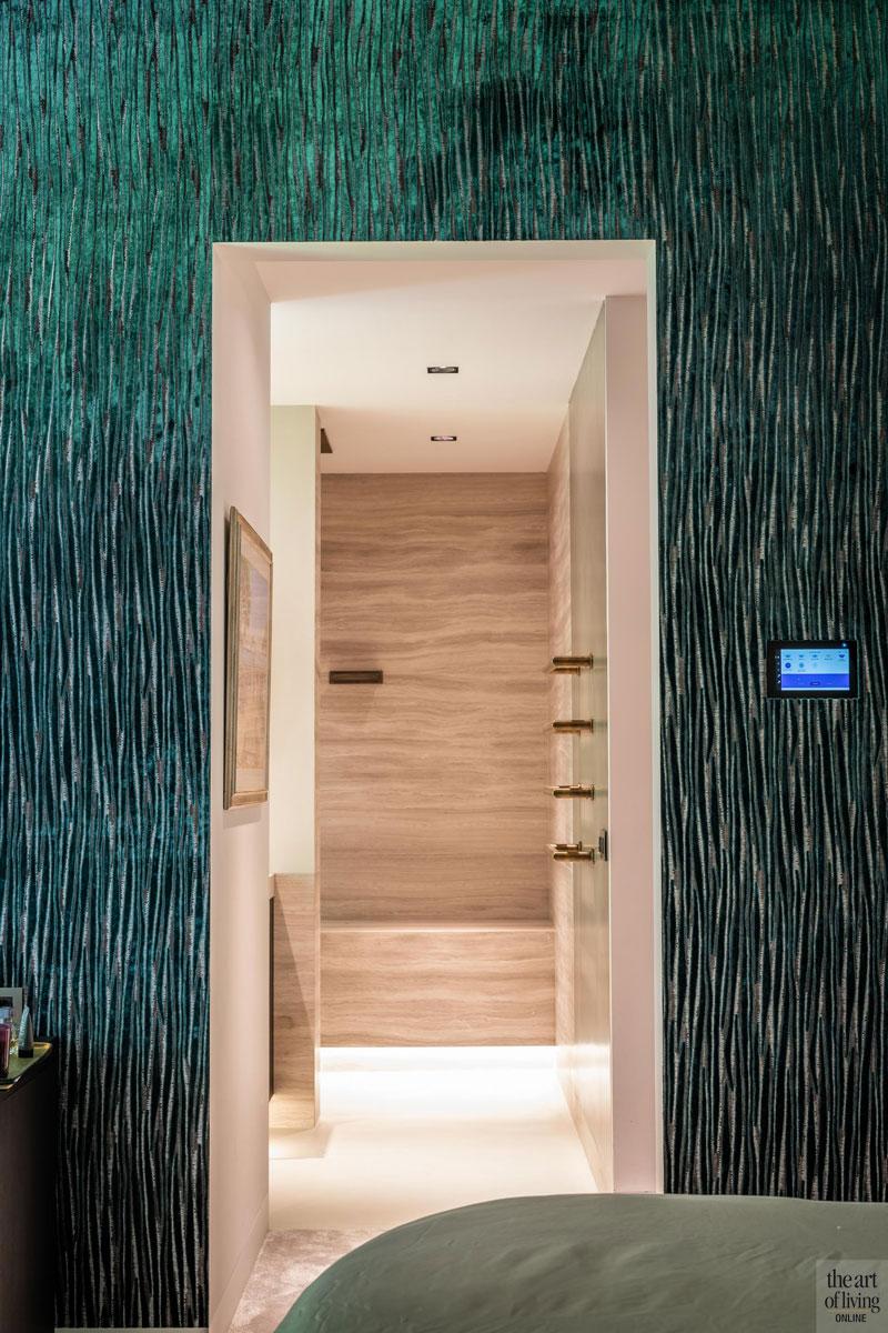 High end interieur, Herman Peters, badkamer ensuite, ensuite badkamer, Badkamer design, Masterbedroom, slaapkamer, muubekleding