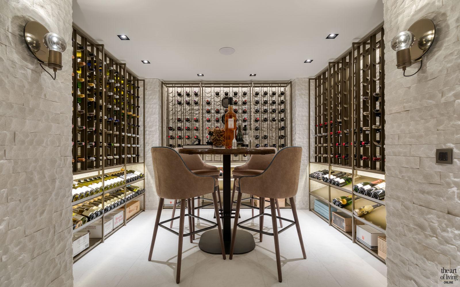 High end interieur, Herman Peters, wijnkelder, wijn, exclusieve wijn