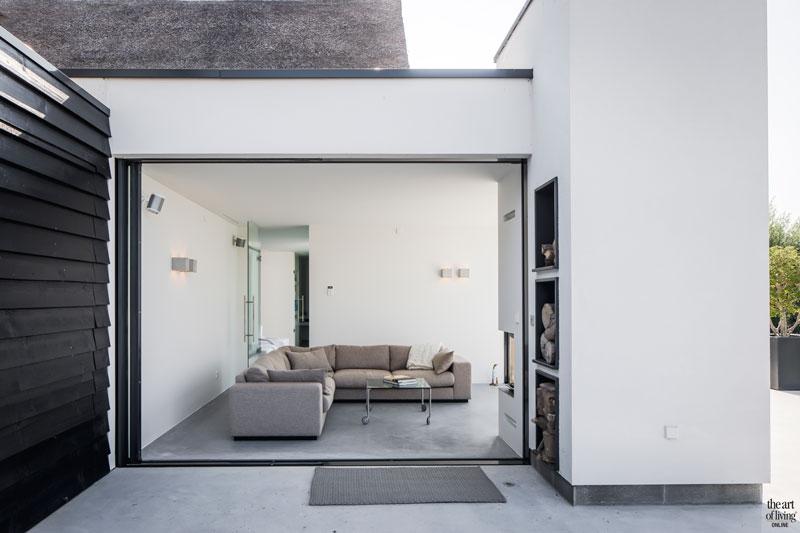 Modern landelijk, Studio Ron van Leent, Glazen gevelbekleding, Rieten dak, Uitzicht
