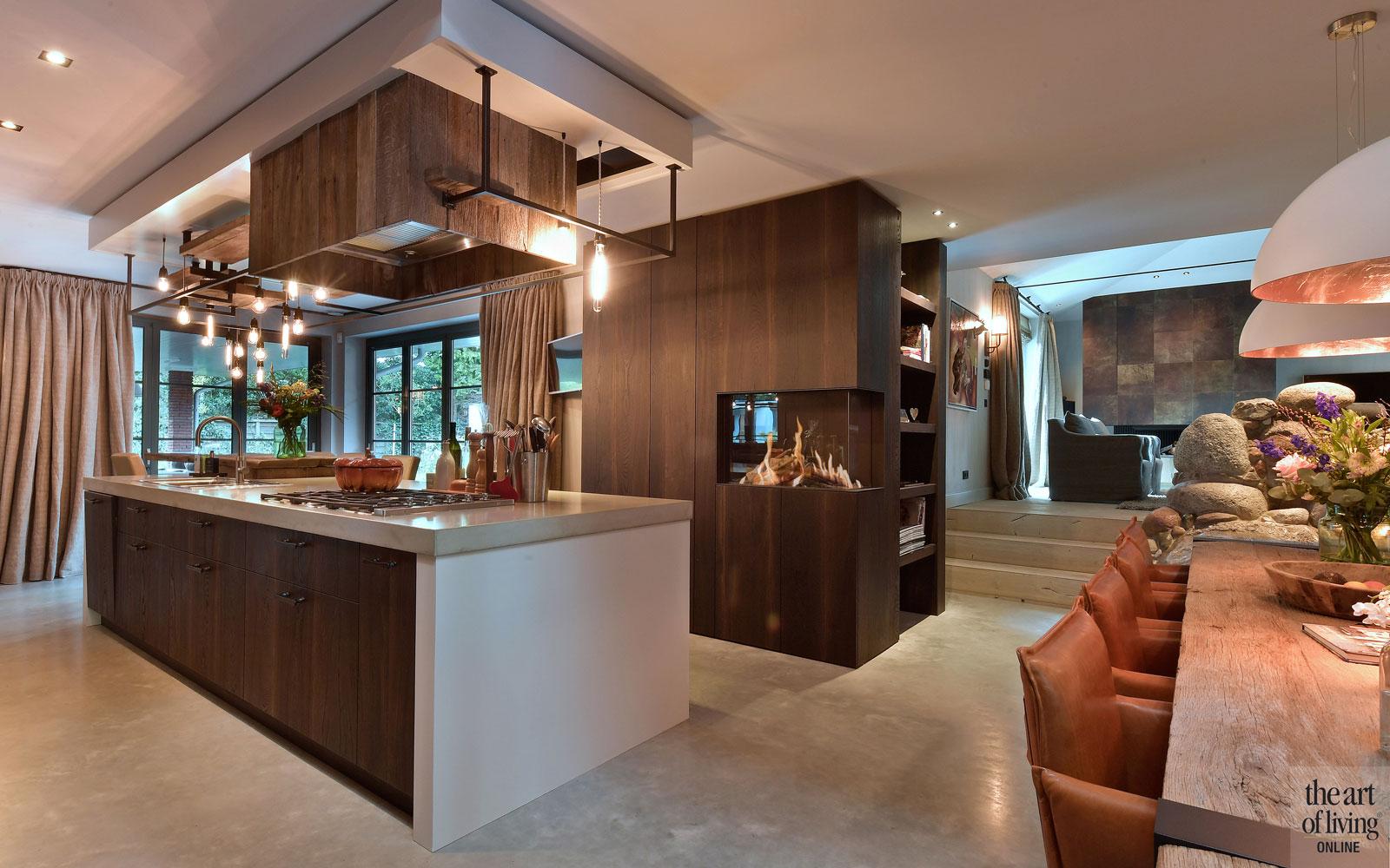 stoer interieur, modern interieur, Alphenberg, openhaard, Van Der Padt