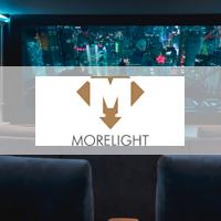 Thuisbioscoop, morelight, domotica, audio, exclusief, luxe, beamerscherm, kwalitatieve apparatuur