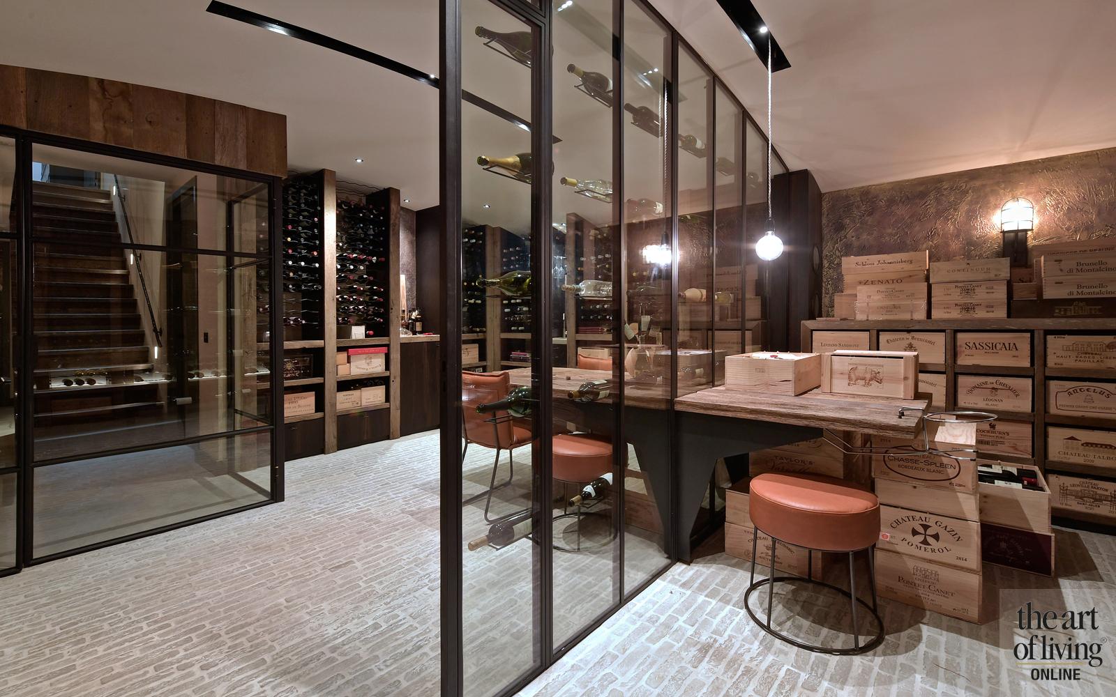 Wijnkelder, RAW Stones, Natuurlijke vloeren, Stoer interieur, Warme tinten