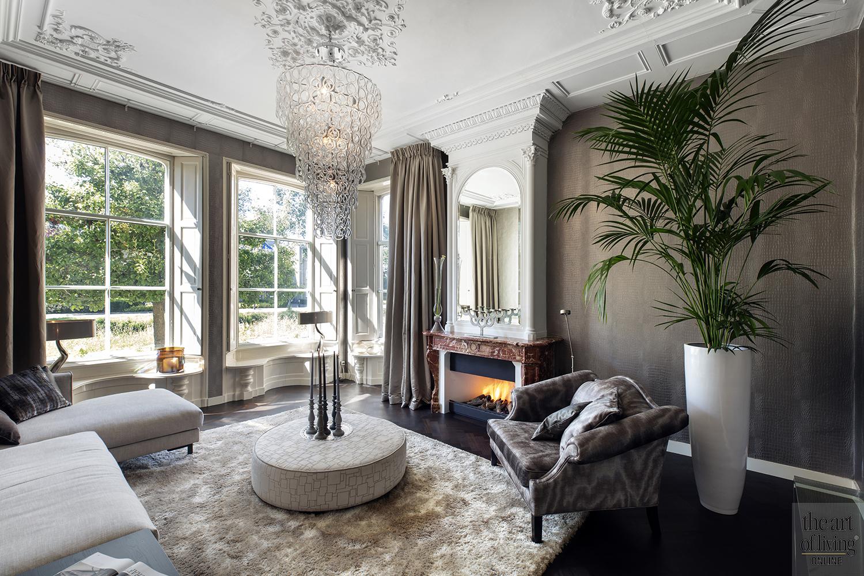Eclectisch interieur, Leo Eulink Interieur & Ontwerp, luxe, leren vloerkleed, exclusief wonen, landhuis, villa