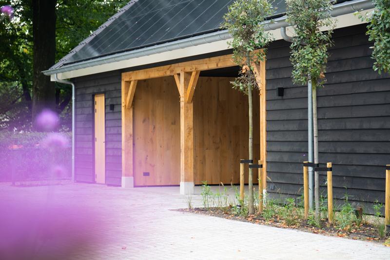 houten bijgebouw, geldersche houtbouw, hoogwaardig materiaal, luxe, wellness, zwembad