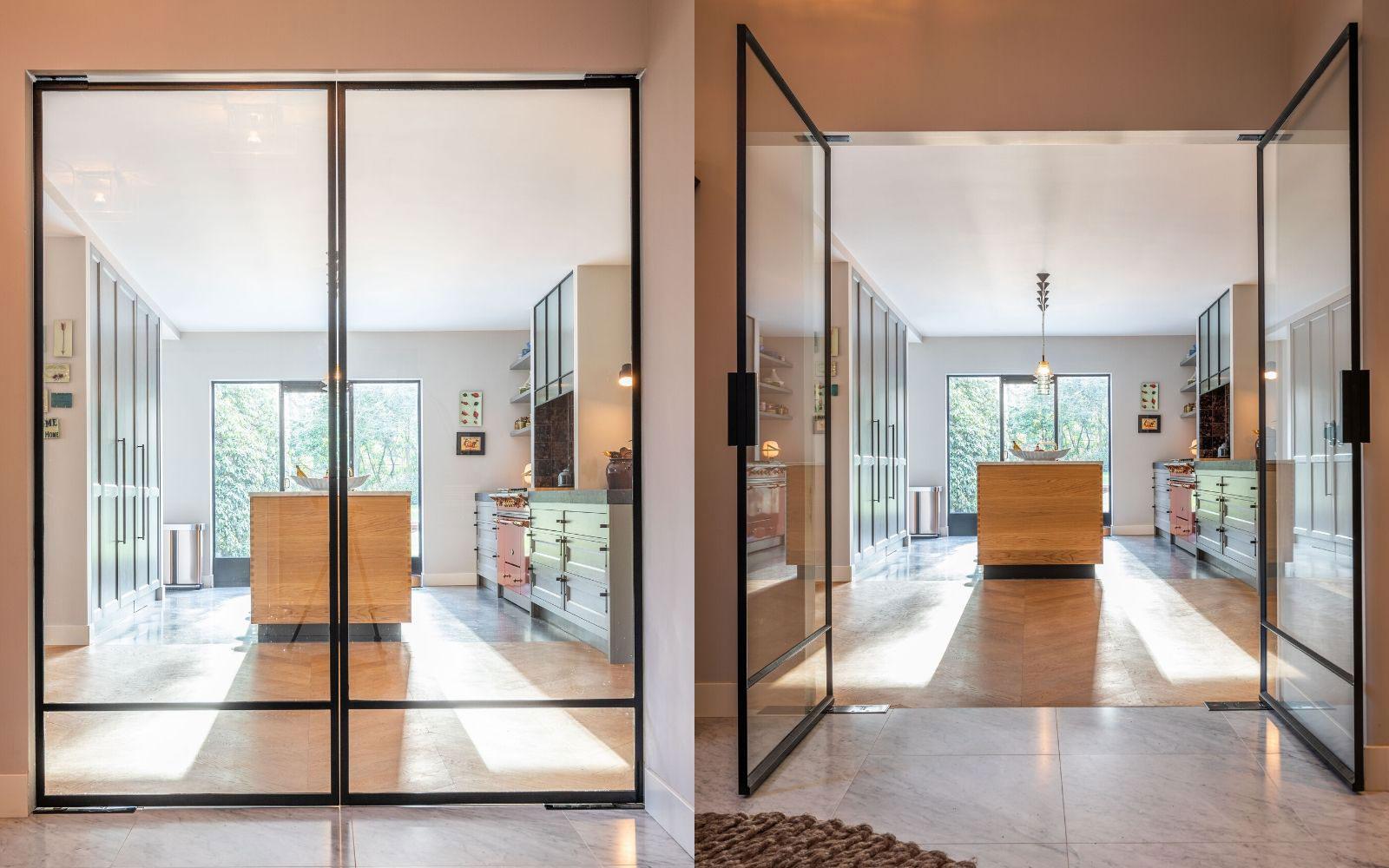 Dubbele deur, StalenDeurenHuys, Stalen deuren, Modern, Interieur