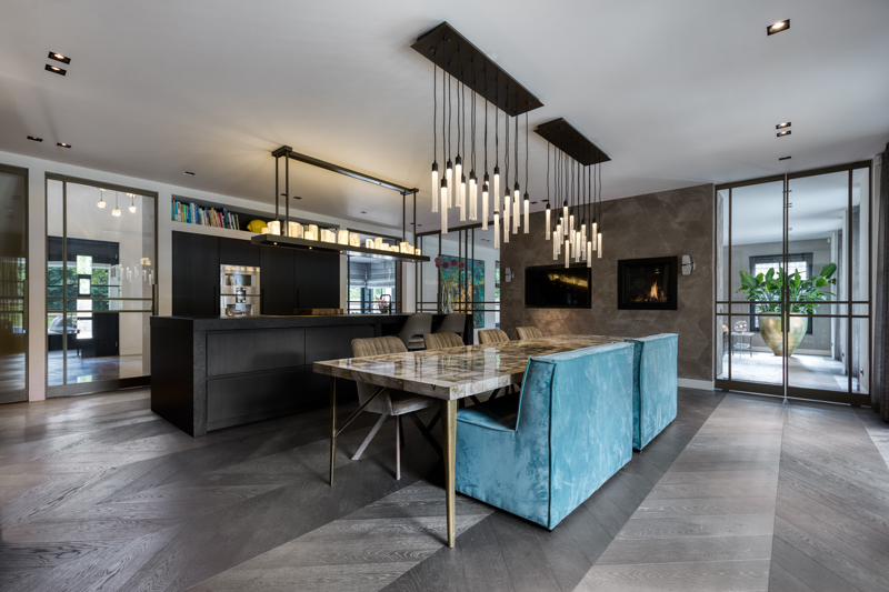 raamdecoratie, Indivipro, Herman Peters, gordijnen, villa, exclusief, luxe