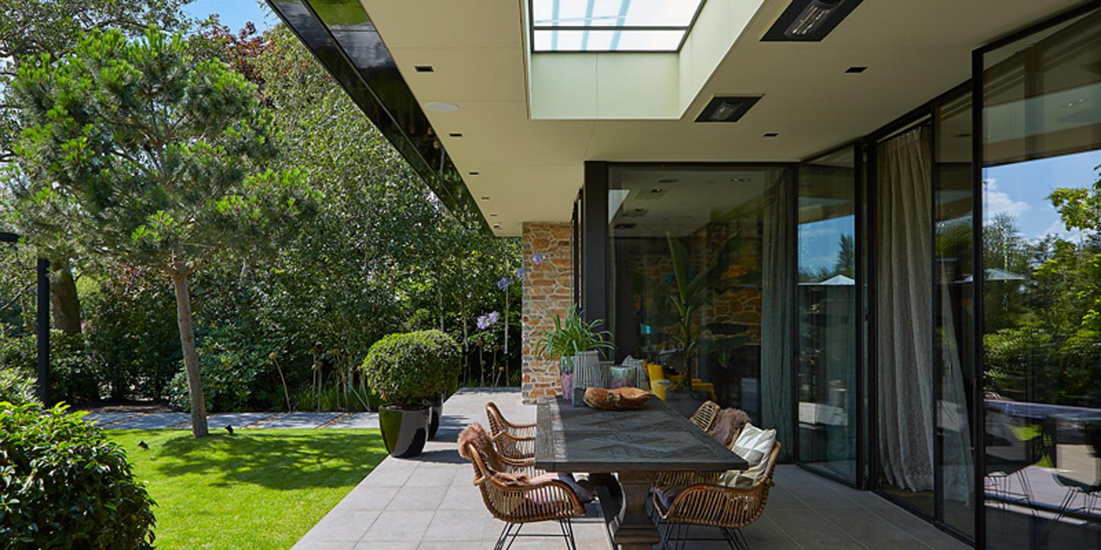 terrasoverkapping, Weinor, Tuin, tuindesign, terras, genieten, buiten