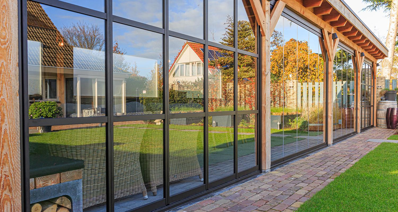 Metalura, glassysteem, tuinkamer, terrasbeglazing, overkapping