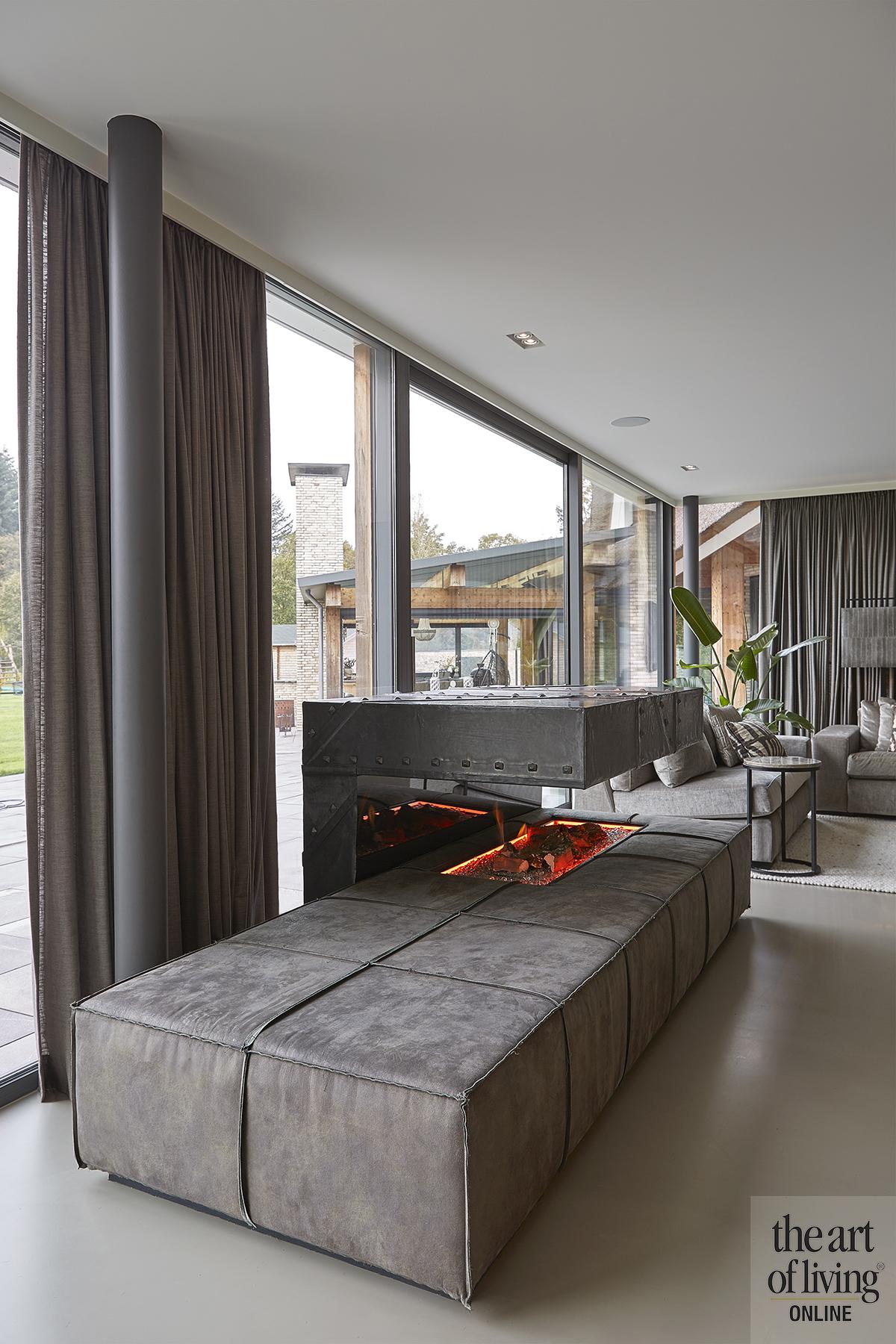 landelijke villa, atelier boekhout, modern, rieten dak