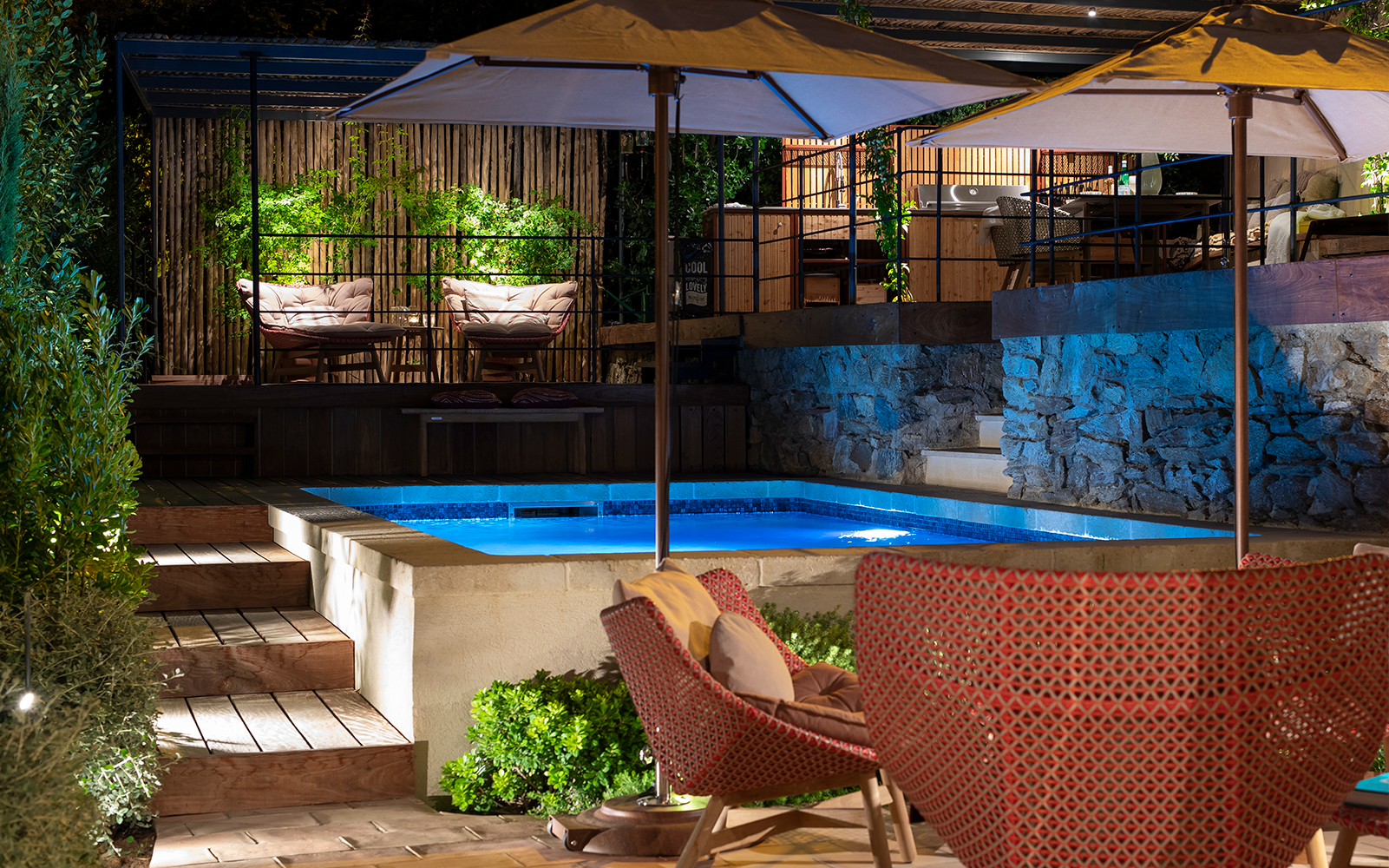 in-lite outdoor lighting, buitenverlichting, villa tuin, exlcusief lichtplan