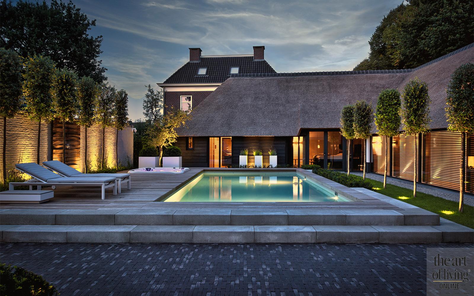 Totaal architectuur, uniek landhuis, ZOUT Ontwerphuis, Vermeer Architecten, Knops Tuindesign, tuinarchitectuur