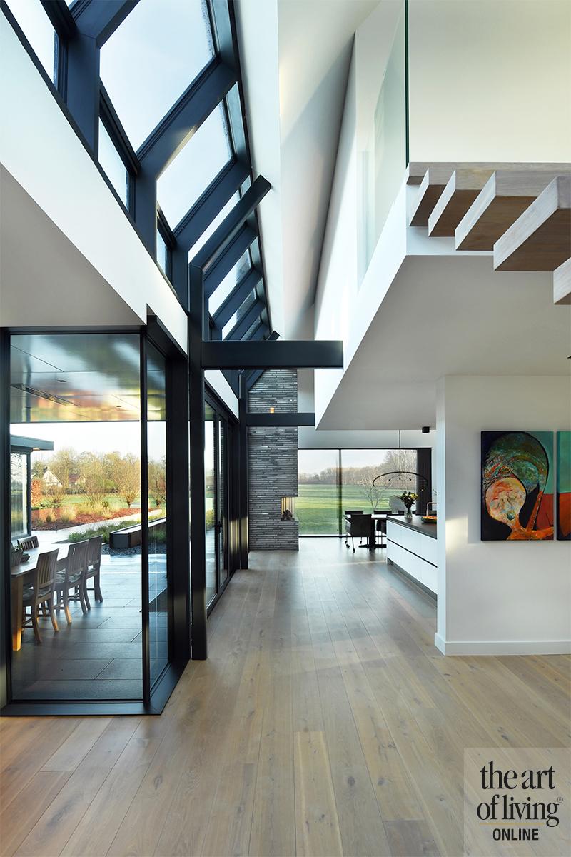 Modern landelijk, villa, uitzicht, landelijk, LENZ Architecten, Marco Daverveld, Tijssen Elektrotechniek