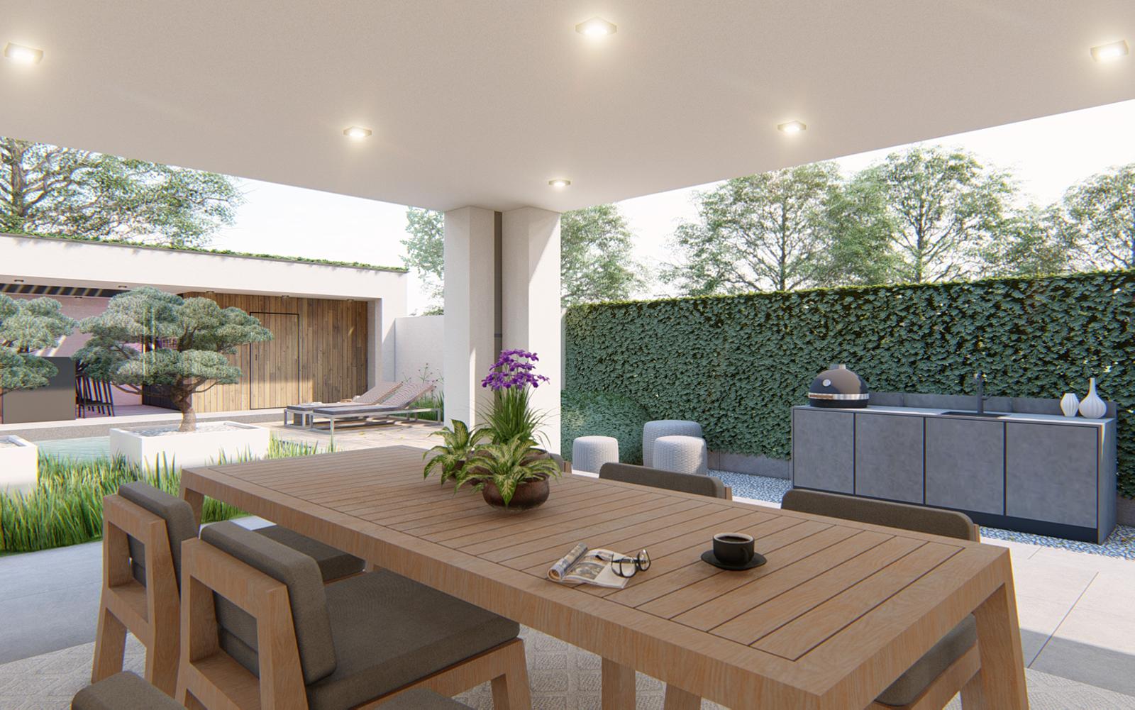 Knops Tuindesign, Villatuin, Exclusieve tuin, luxe, niveauverschillen