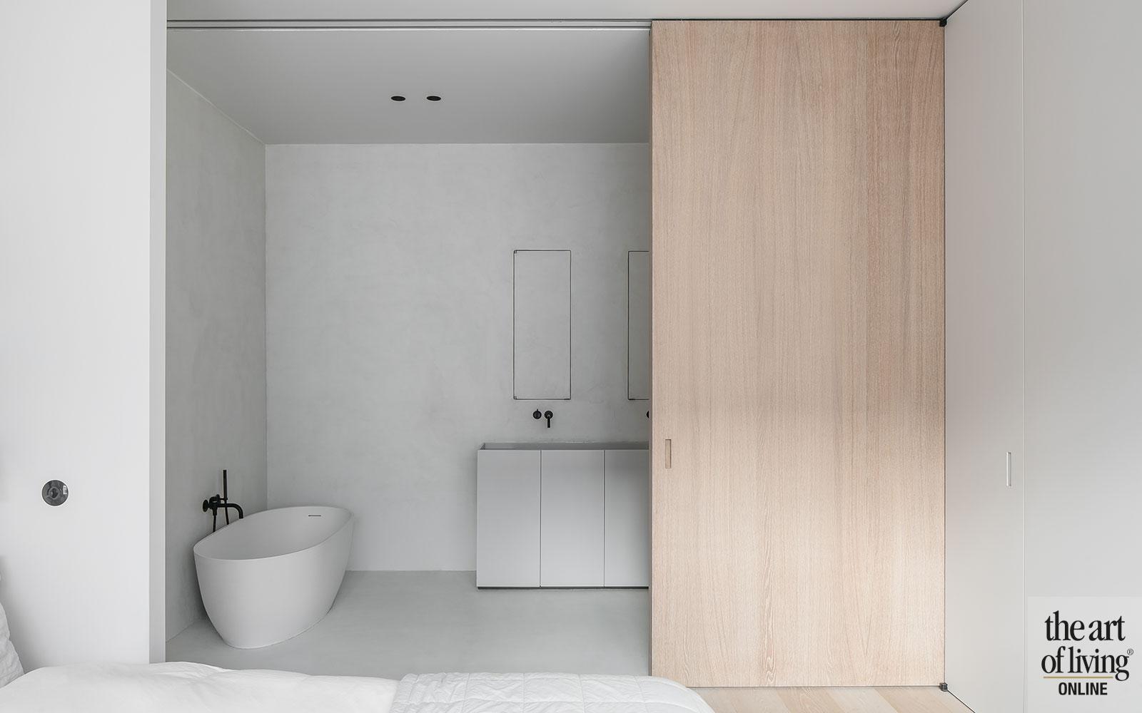 , strak, wit, minimalistisch