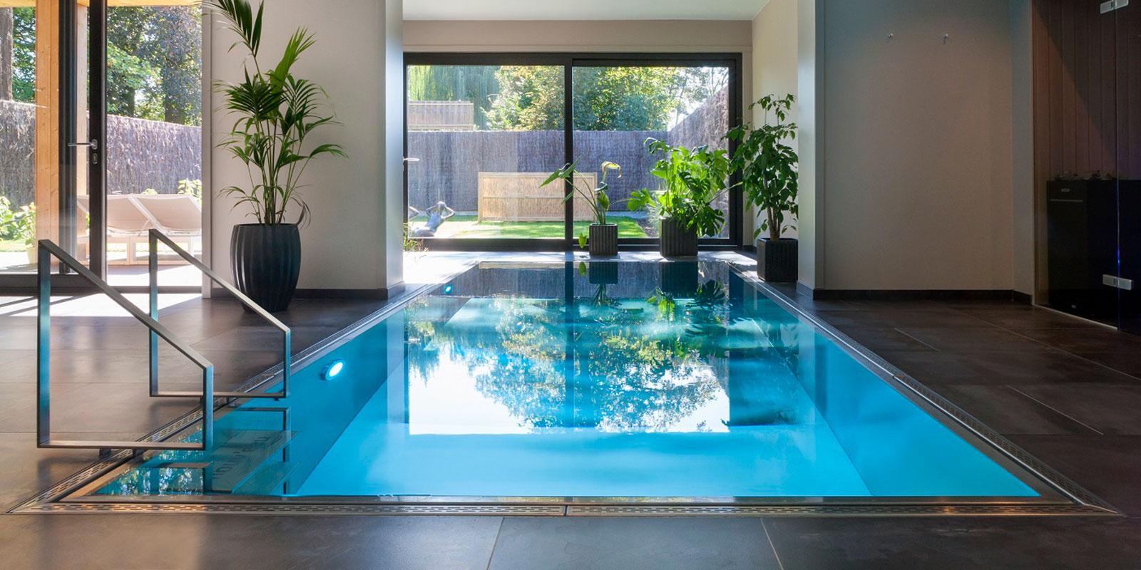 inox zwembad, nouv'eau, zwembad, wellness