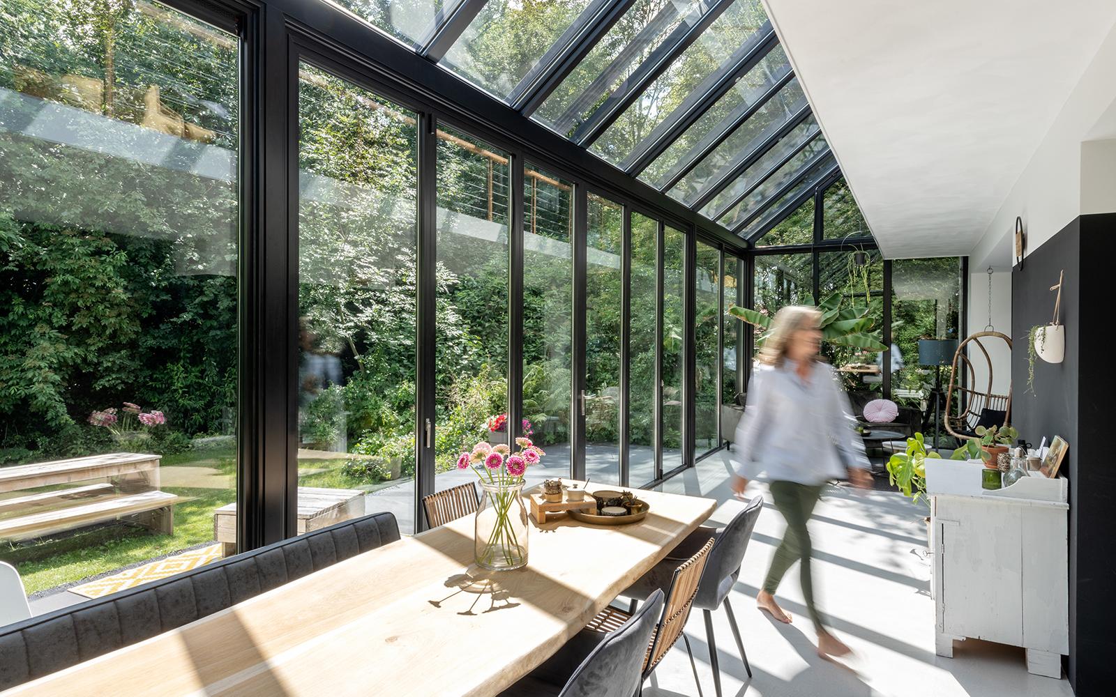 Solarlux, vouwwand, glazen wand