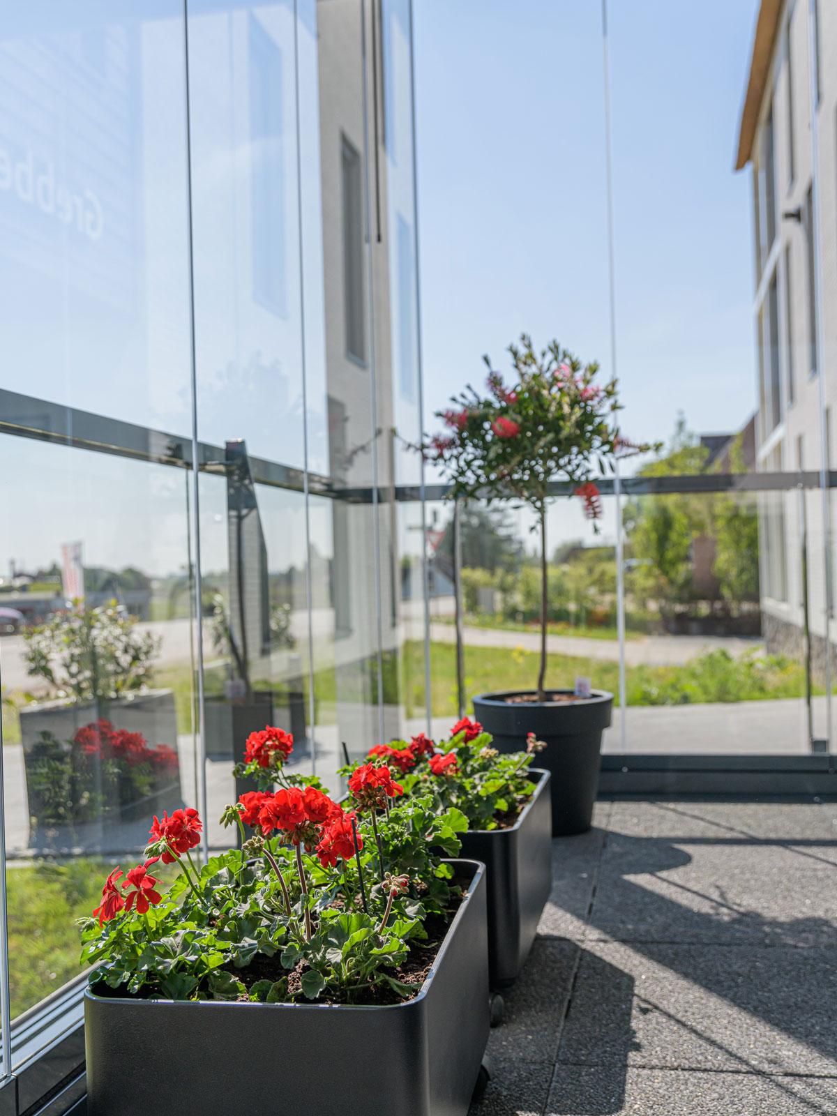 Aangenaam uit de windmetbalkonbeglazing, balkonbeglazing,Metalura