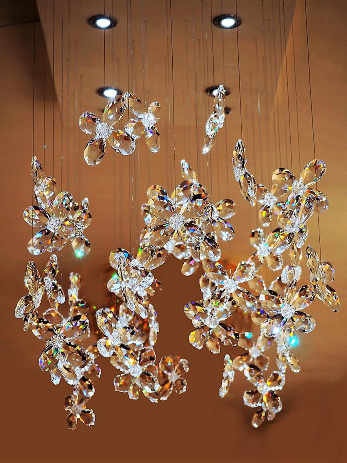 Moderne kroonluchter met vlinders, Moderne Kroonluchter, Haagsche Kunsthandel