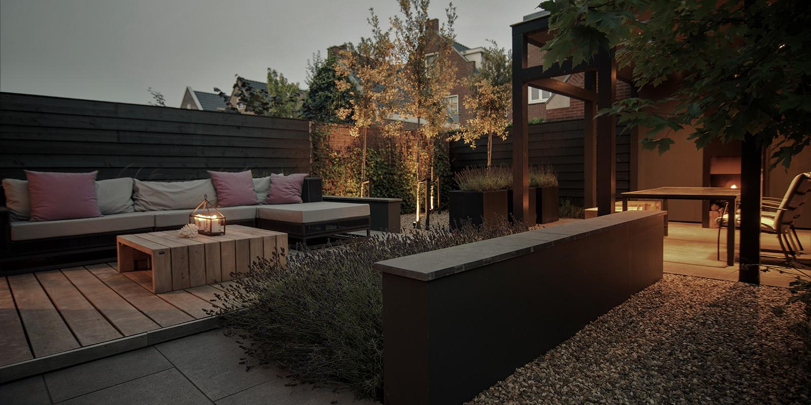 tuin met veranda, Buytengewoon Tuinontwerp, The Art of Living
