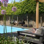 tuin met zwembad , StudioSiebers, the art of living