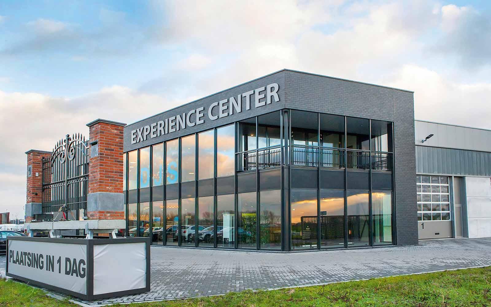 djs hekwerken, experience center, constructie, showroom