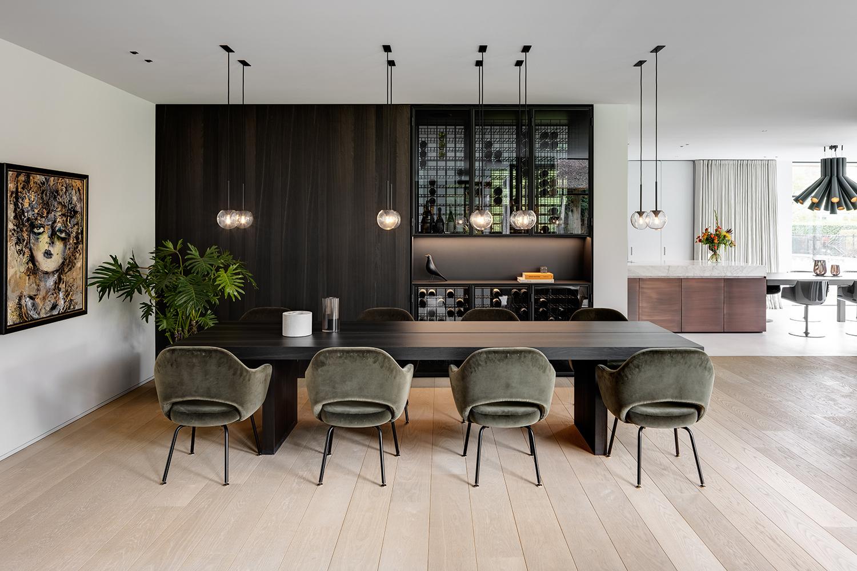 eetkamer, dennebos flooring, the art of living, houten vloer