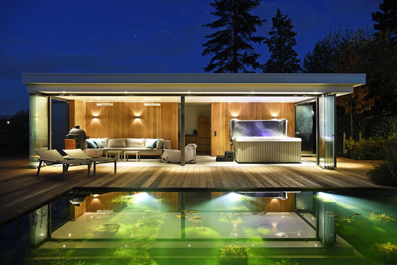glaswanden poolhouse, solarlux, the art of living
