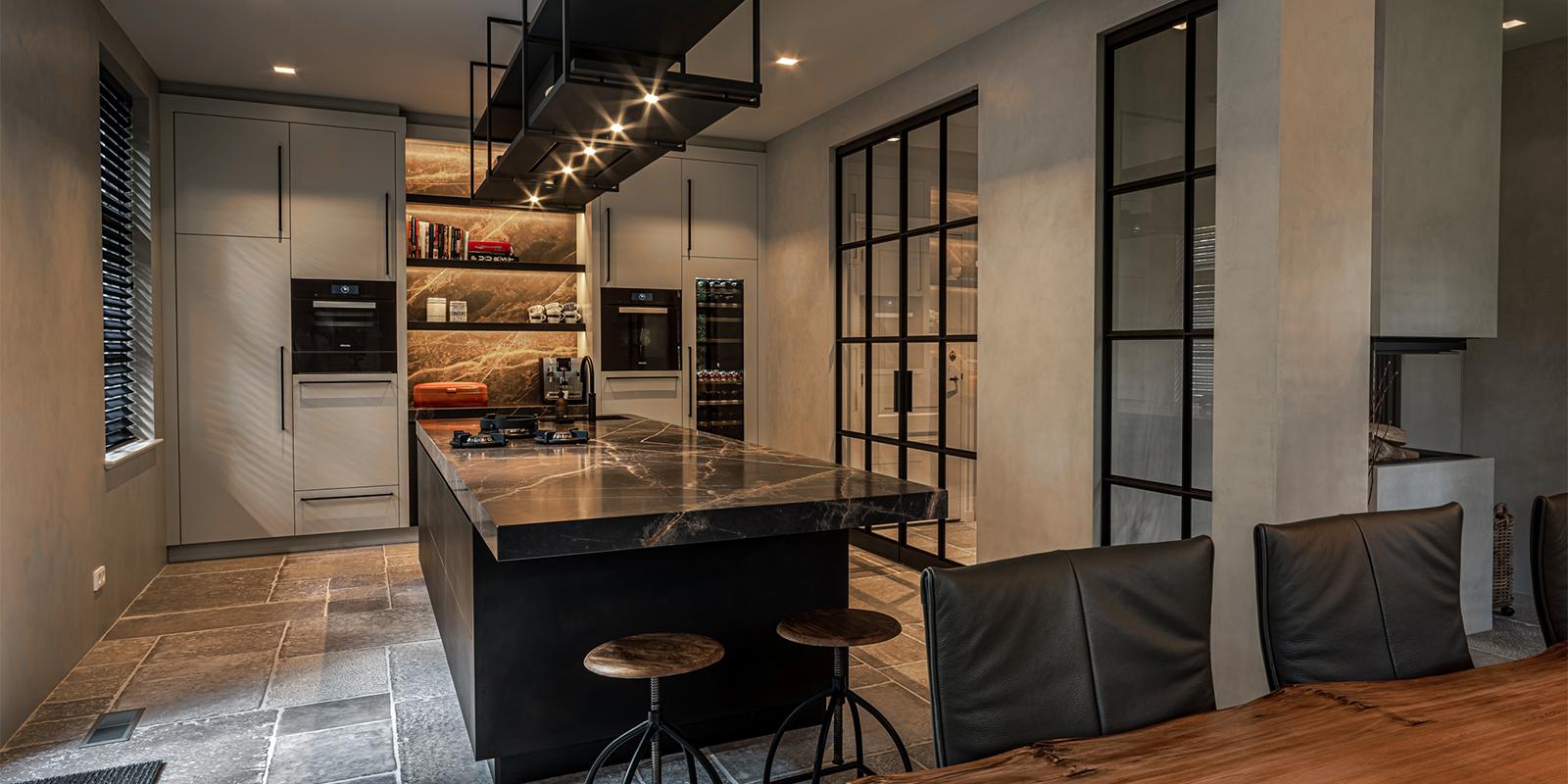marmer keukenblad, the art of living, van essen exclusieve keukens