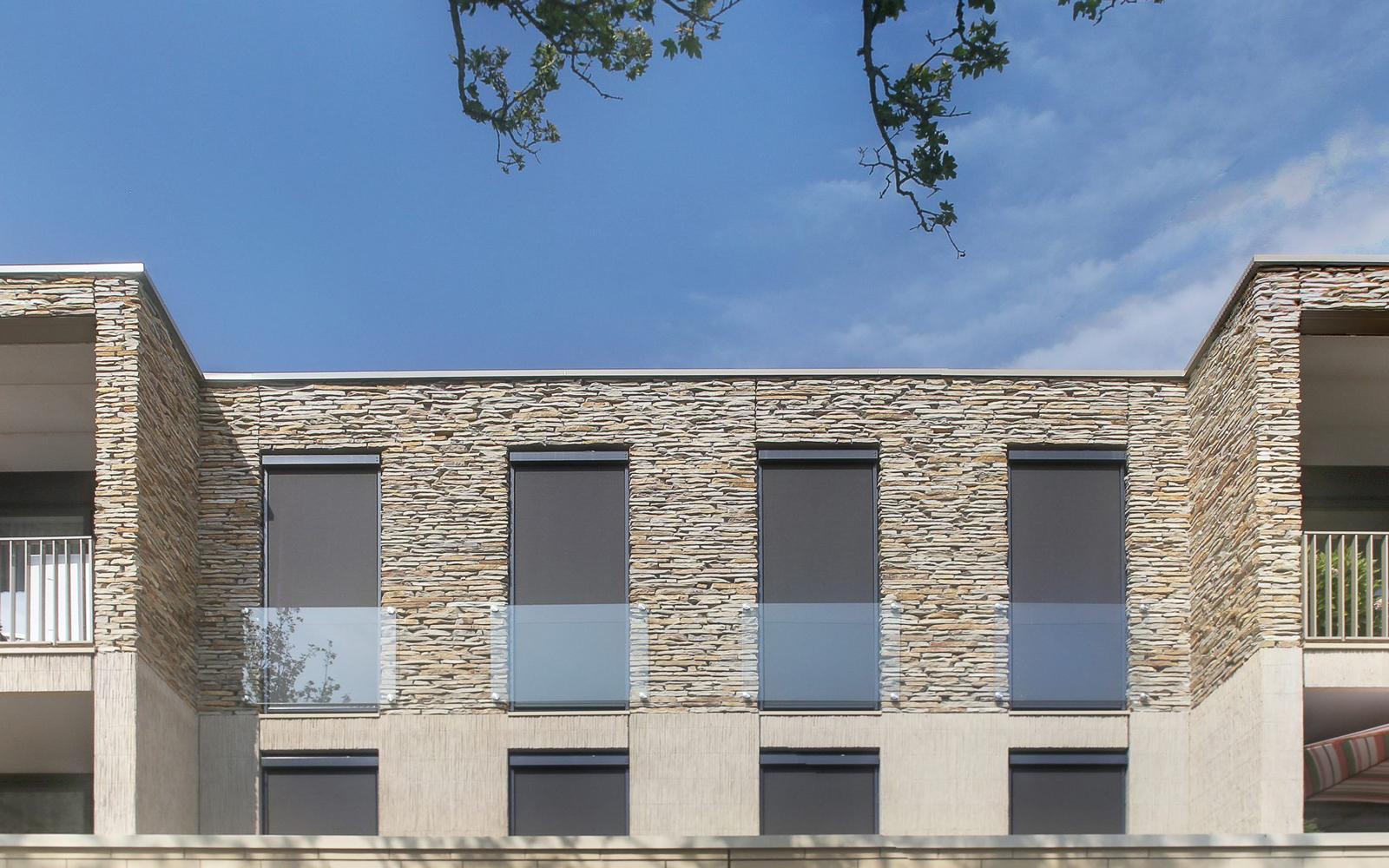 Natuurgevelsteen, natuursteen, wassenaar, appartementencomplex, stijlvol