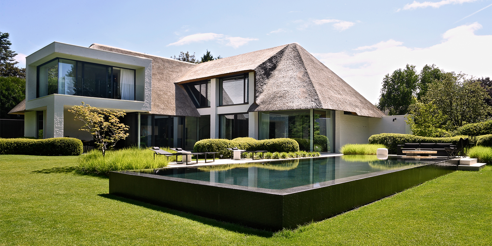 rieten dak, sels villabouw, steven van dooren, the art of living
